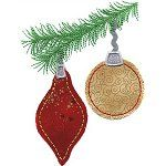 Ornaments with Raw Edge Applique
