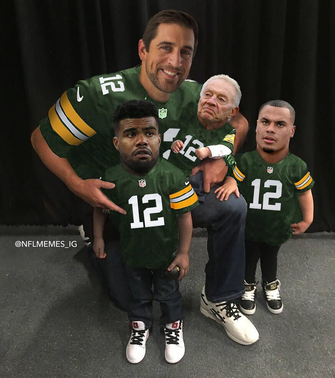 Aaron Rodgers Taking The Kids To School Nfl Memes Dallas Cowboys Memes Cowboys Memes