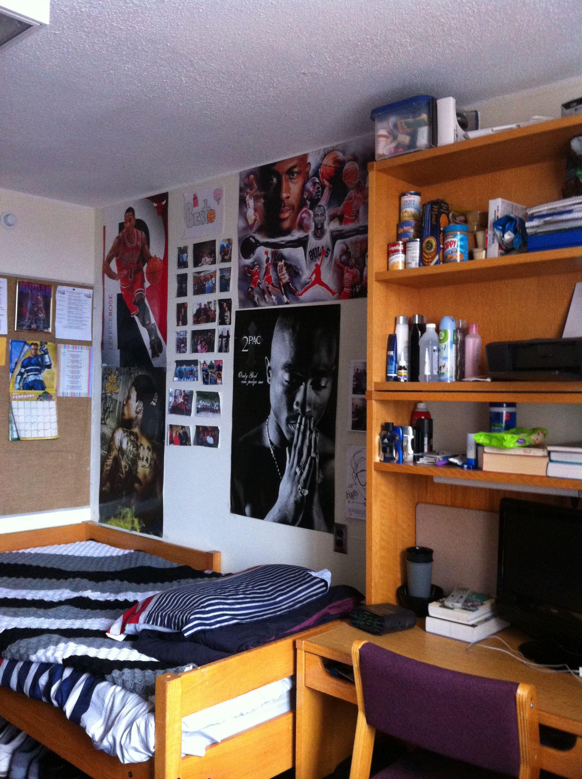 """My room, Family photos , D.rose, 2pac  "" - Alberto from Carman Hall"