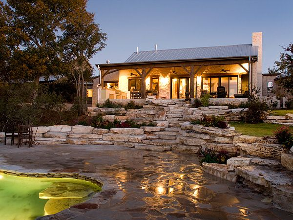 Hill country style homes google search when i build my for Texas ranch style house