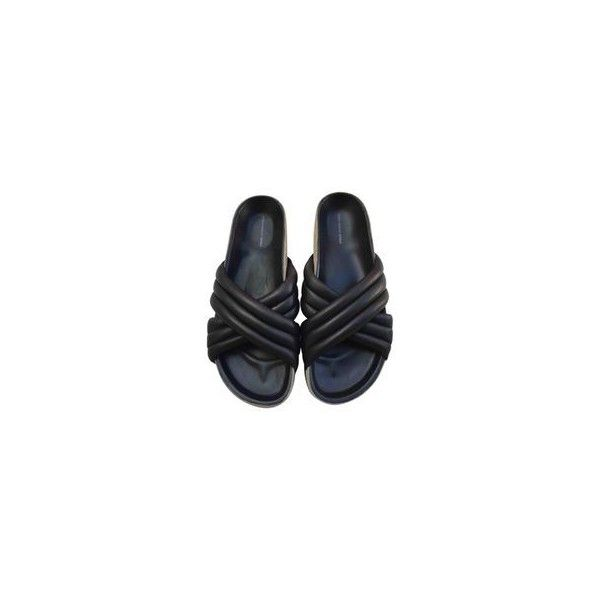 Leather sandal ISABEL MARANT ETOILE ❤ liked on Polyvore featuring shoes, sandals, black sandals, black leather sandals, black leather shoes, real leather shoes and leather sandals