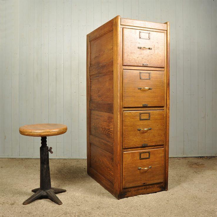 1920 39 S Oak Filing Cabinet Vintage Filing Cabinet Oak Filing