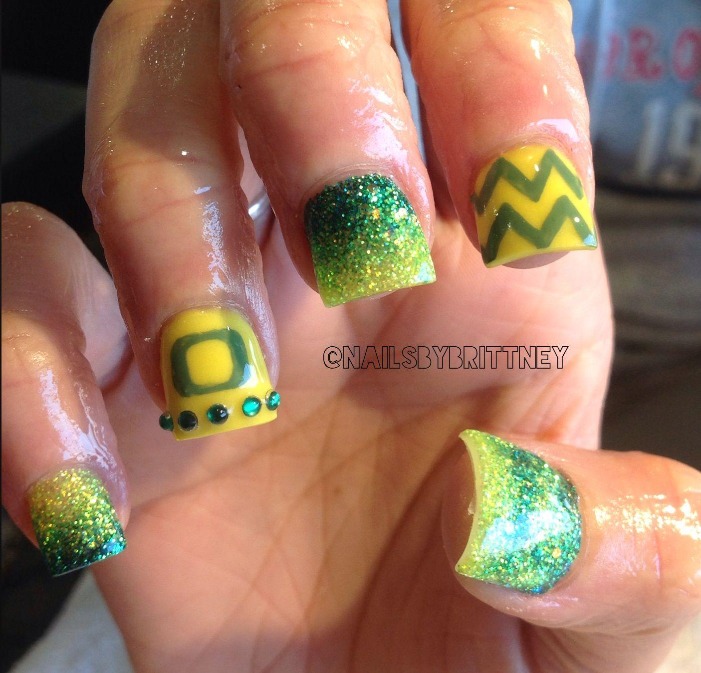 Oregon ducks nails! | Nails | Pinterest | Oregon duck nails, Duck ...