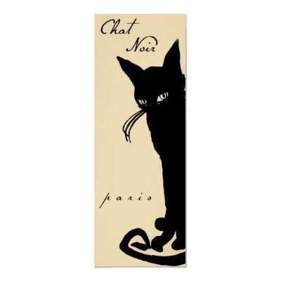 Vintage Poster Chat Noir Black Cat Paris Poster Zazzle Co Uk Black Cat Black Cat Art Cat Posters