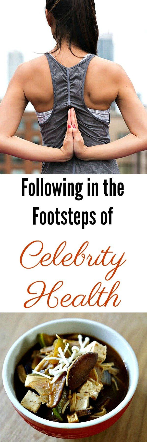 Following in the Footsteps of Celebrity Health; Often we look to our favorite celebrities who have glowing skin and perfect bodies, even just after giving birth, and wonder how they do it. How do these exceptionally busy people manage their lives in such a way that they are able to do what they do and are able to look so great and maintain optimum levels of health and wellness. #health #wellness #celebrities #wellness