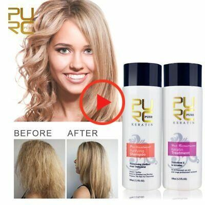 (Ad) Pure Brazilian Dry+Shampoo Kit Keratin Hair Straightening Treatment 100 ml Blow
