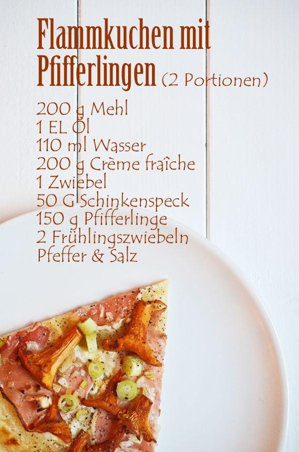 Rezept für Flammkuchen mit Pfifferlingen und Tiroler Speck Rezepte