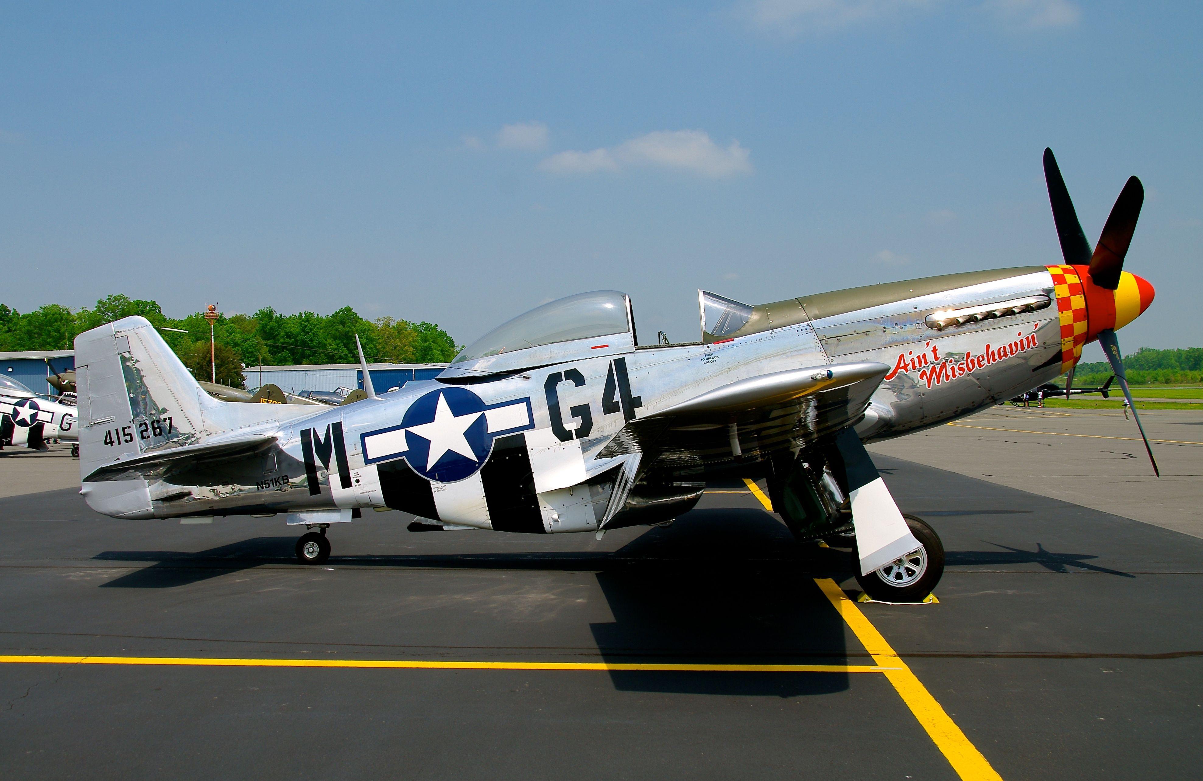 North American Mustang P-51D Vintage Aircraft Art Print 13 x 19
