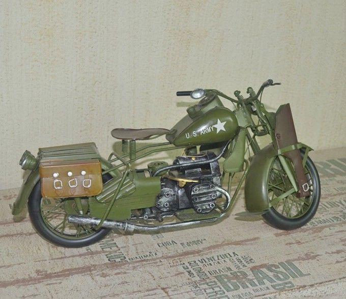 Handmade Antique U S Army Harley Davidson Military