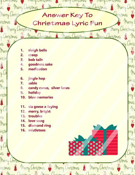 Christmas Song Game, Christmas Music Game, Christmas Carol