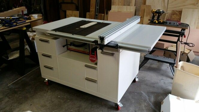Table Saw Station Built For A Craftsman 113 10 Inch Saw Table Saw Station Craftsman Table Saw Table Saw