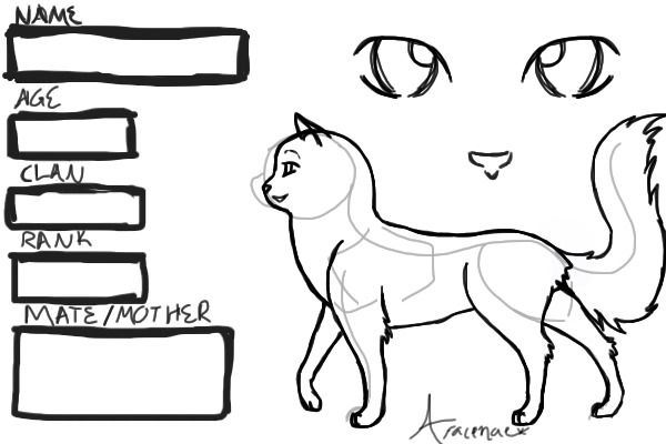 Warrior Cat Creator Aracenae | Warrior Cats Coloring Pages - Enjoy ...