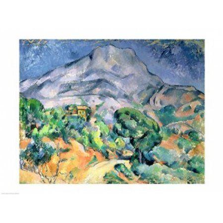 Mont Sainte-Victoire Canvas Art - Paul Cezanne (24 x 18)