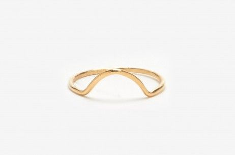 Mini Arc Ring in 10K Gold by WWAKE