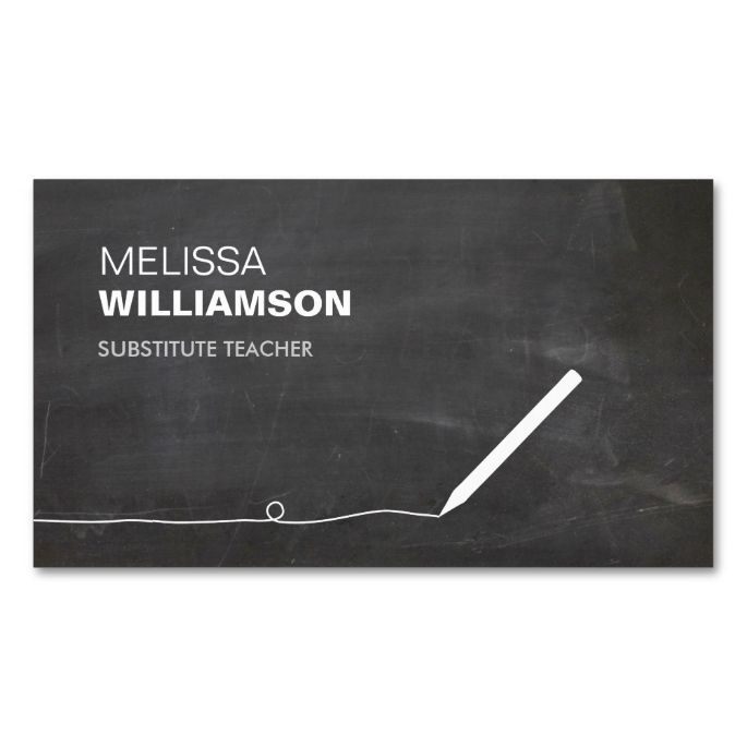 Chalkboard teacher educator business card make your own business chalkboard teacher educator business card make your own business card with this great design reheart Gallery