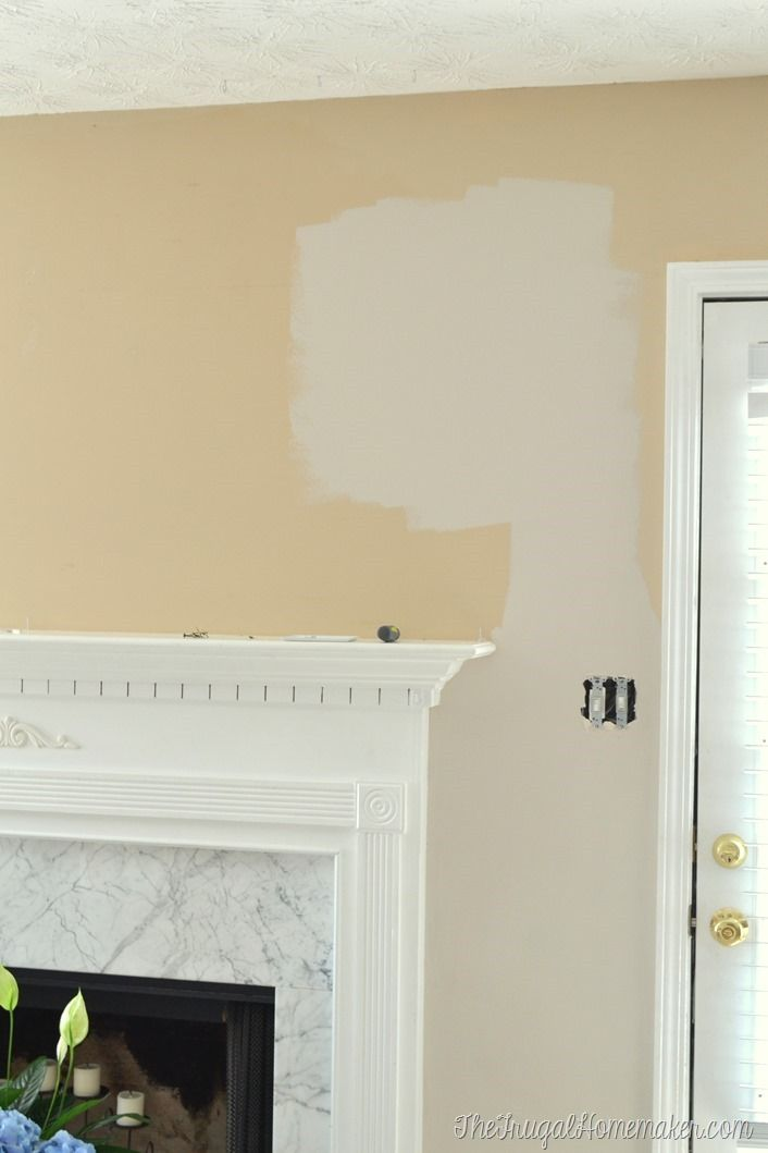New paint in living room wheat bread by behr living for Behr neutral beige paint colors