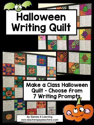 Halloween Writing Prompts Quilt Halloween writing prompts, Writing - halloween writing ideas