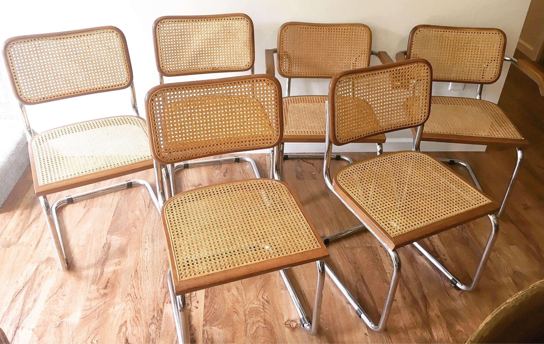 Held for nikki 6 italian marcel breuer chairs made in