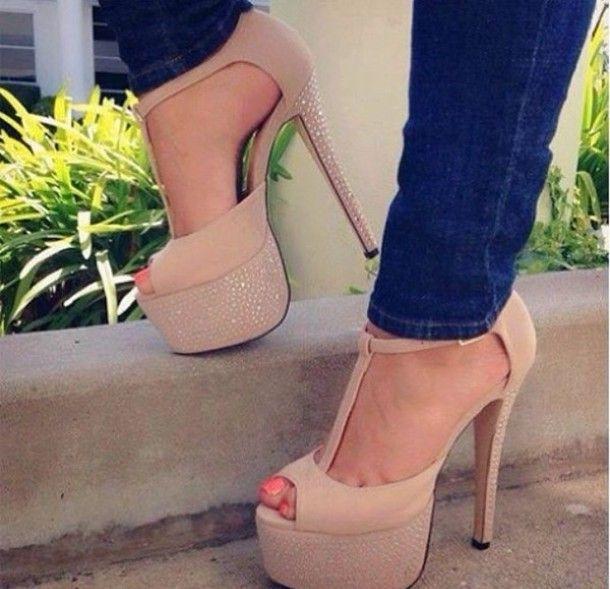 high heels, Stiletto heels platform