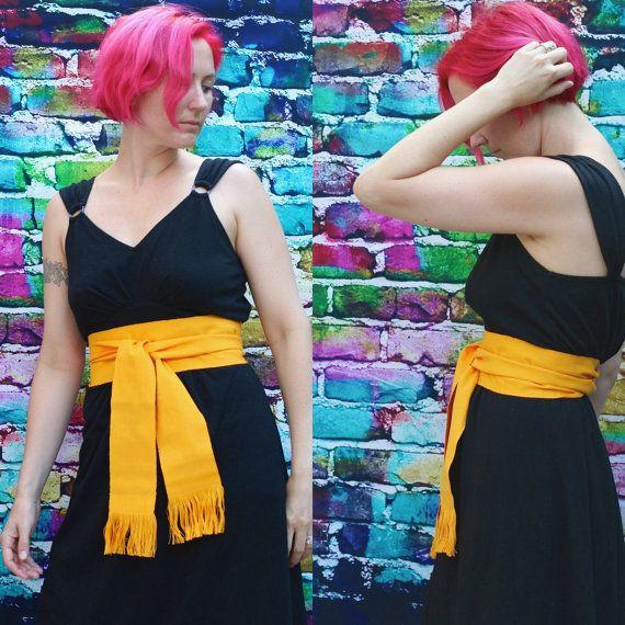 Fabric Belt  Boho Chic Fashion  Woven Sash  by brizel4TheAnimals