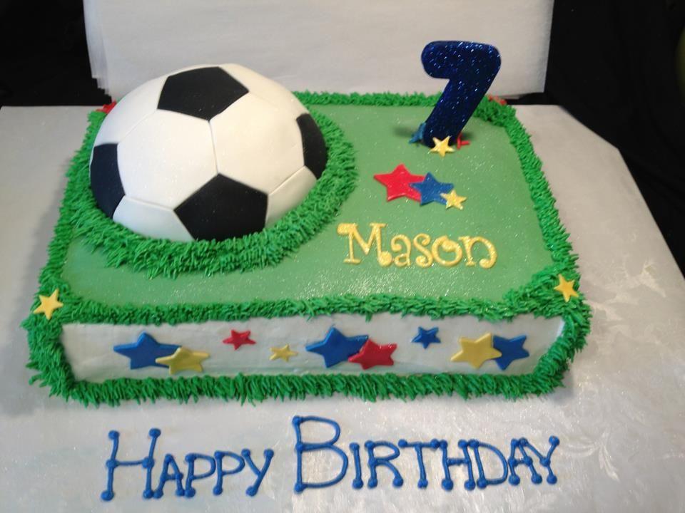Soccer birthday cake   My Cake, Cupcake & Dessert Creations ...