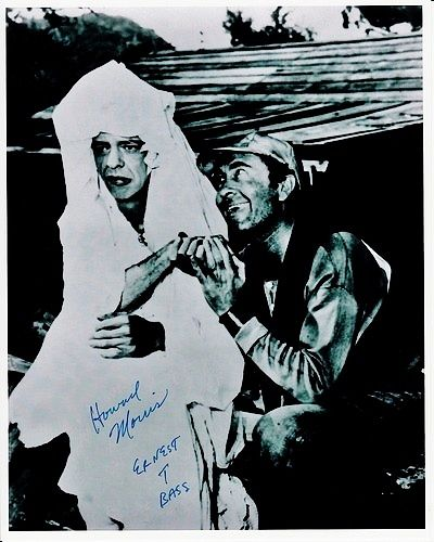 Barney in wedding dress--autographed picture of Ernest T. Bass ...