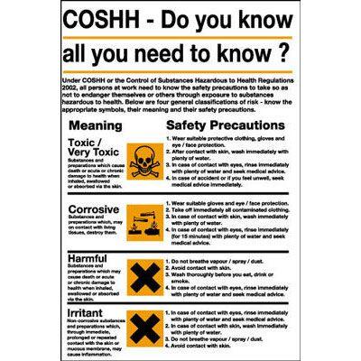 COSHH Poster / Wall Chart   Chart