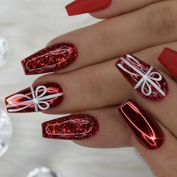 52 Festive And Easy Christmas Nail Art Designs Ideas You Must Try