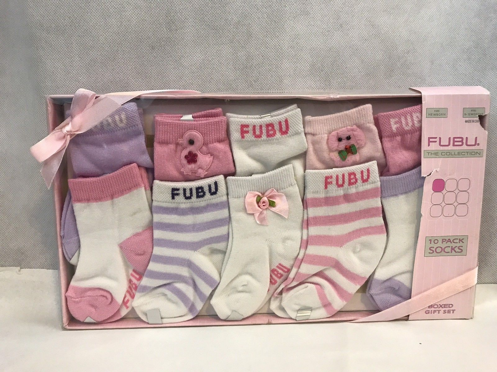 Fubu The Collection 10 Pack Socks Boxed Gift Set Pink Infants Socks Clothing Shoes Accessories Baby Toddler Clothing Girls Baby Socks Gift Set Infant