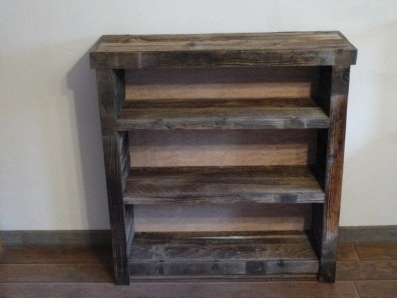 Rustic Barnwood Bookshelf Or Display Shelf
