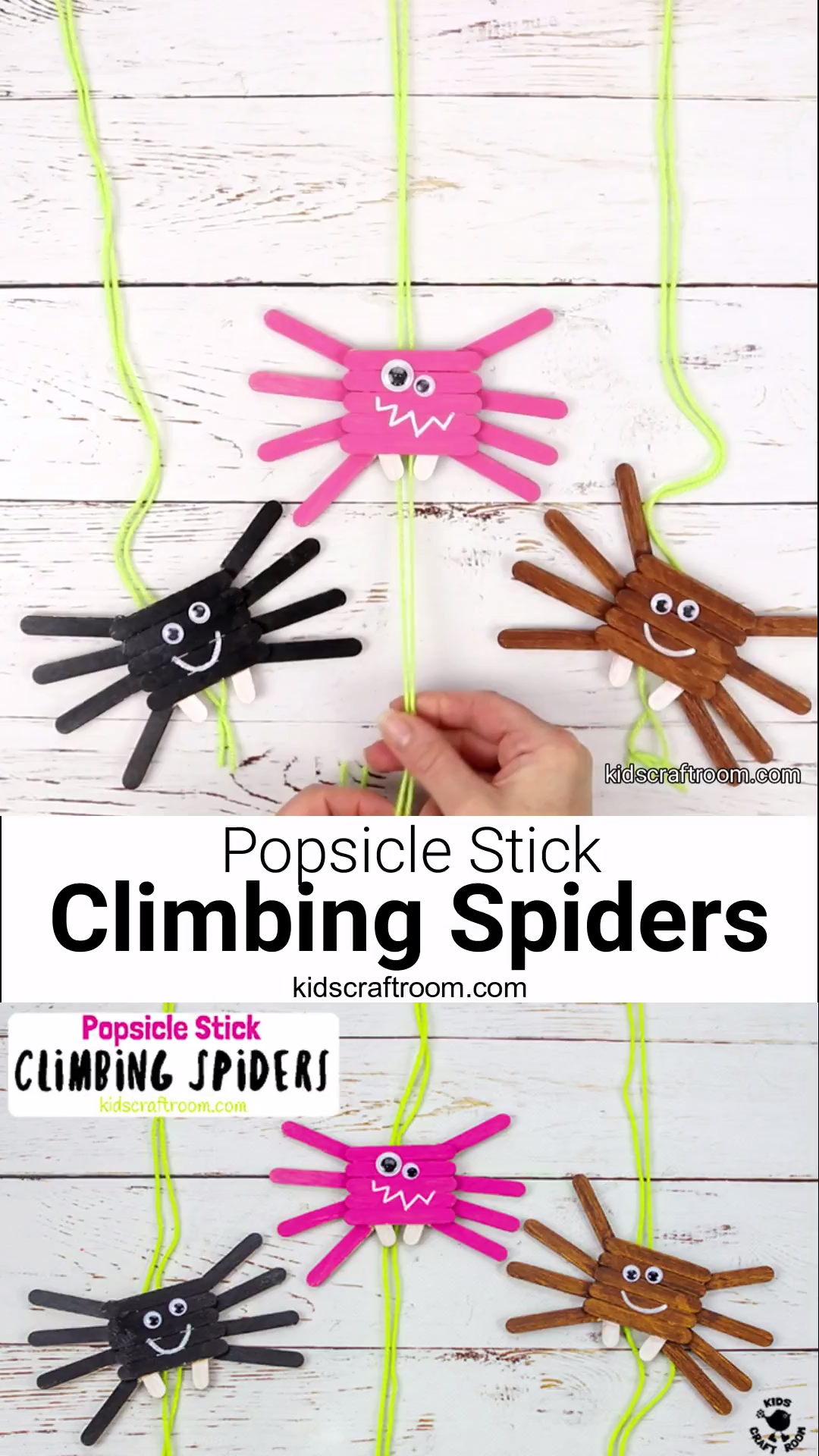 Photo of Climbing Popsicle Stick Spiders