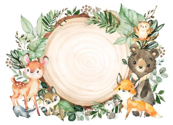 Woodland Forest Greenery Wild Animals Baby Shower Invitation Zazzle Com Animal Baby Shower Invitations Animal Baby Shower Baby Shower Invitations