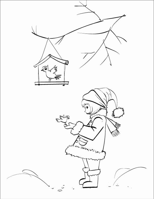 Winter Coloring Pages Pdf Beautiful 9 Winter Coloring ...