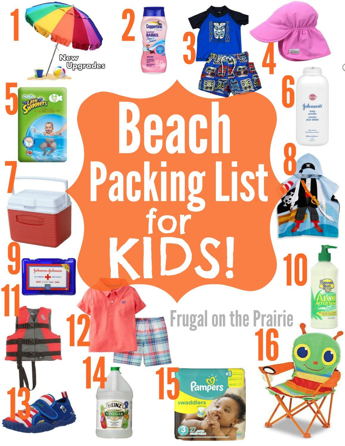 Beach Packing List for Kids  Beach vacation packing