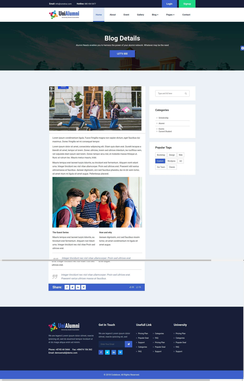 unialumni university alumni html template nonprofit pinterest