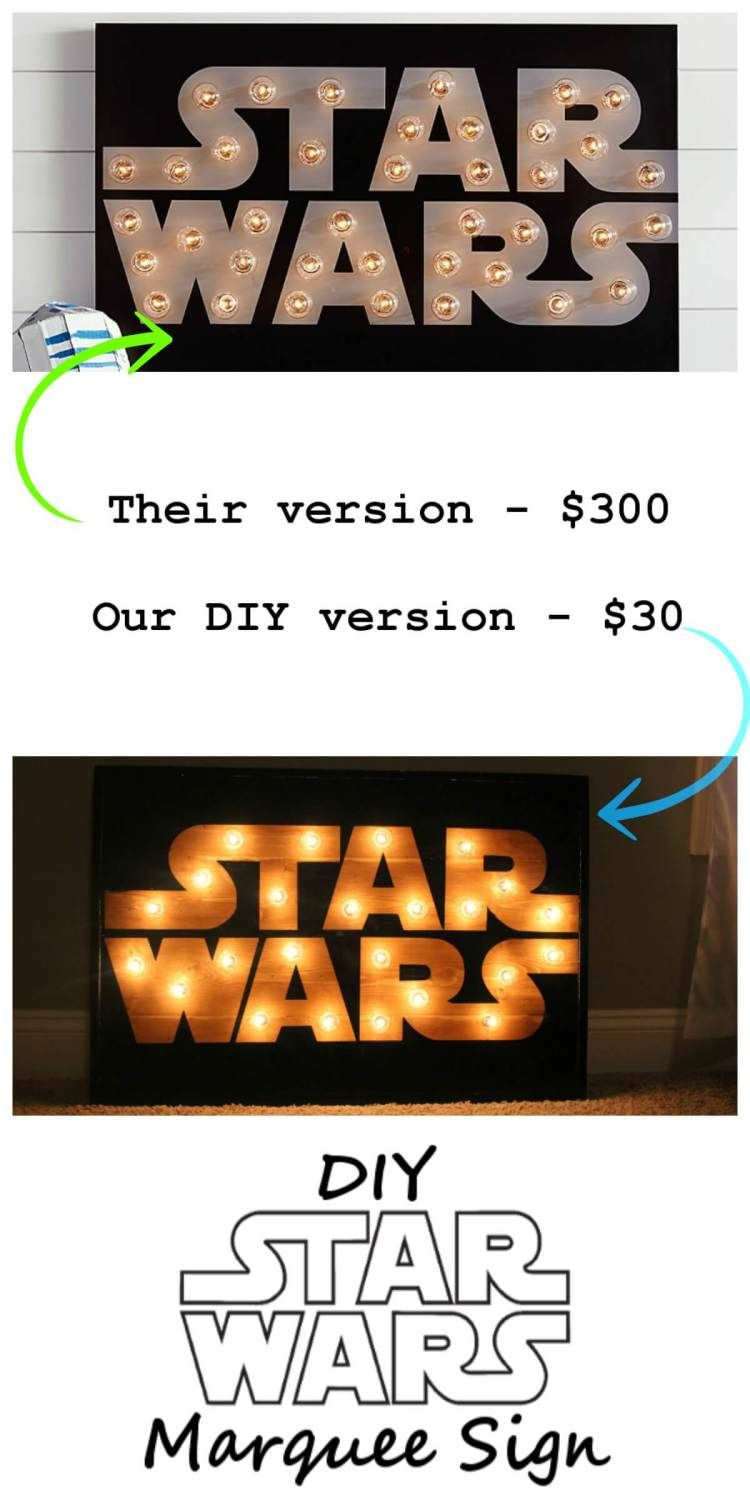 Diy Star Wars Marquee Wall Art Tutorial Pinterest Basteln