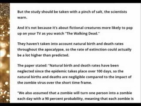 NOW No one would actually survive a zombie apocalypse