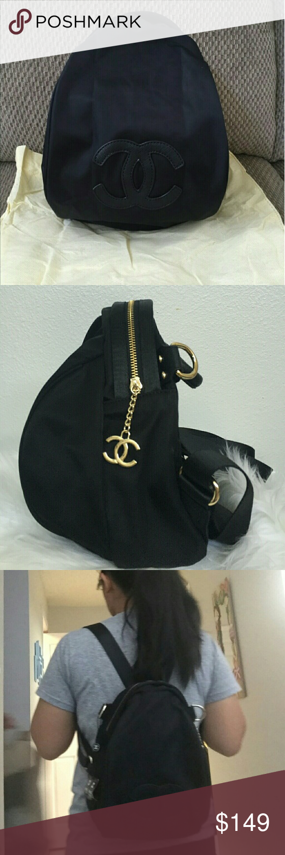 f521e57cac0d ... Authentic VIP gift backpack cross body bag Brand new 2017 Authentic  Chanel VIP gift backpack cross ...