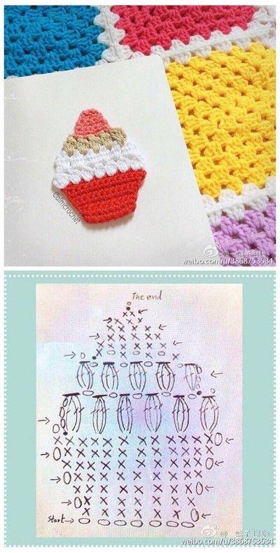 Pin de J T en DIY & Craft | Pinterest | Apliques, Ganchillo y Patrones