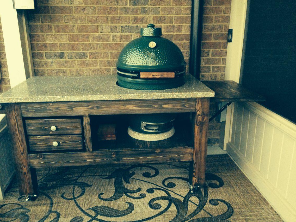 Marvelous Big Green Egg Table