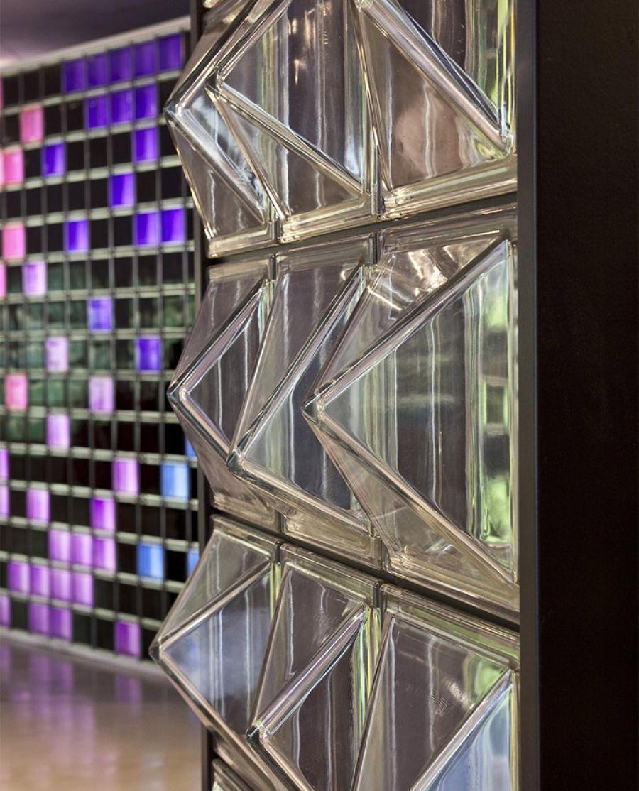 3d Textured Architectural Pattern Glass Block Bricks For Walls