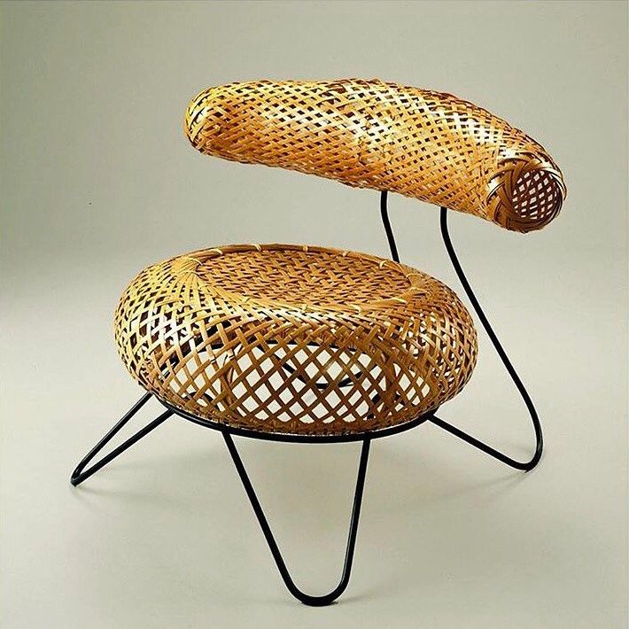 Bamboo Basket Chair By Isamu Noguchi And Isamu Kenmochi 1950 Bamboo Chair Basket Chair Bamboo Furniture