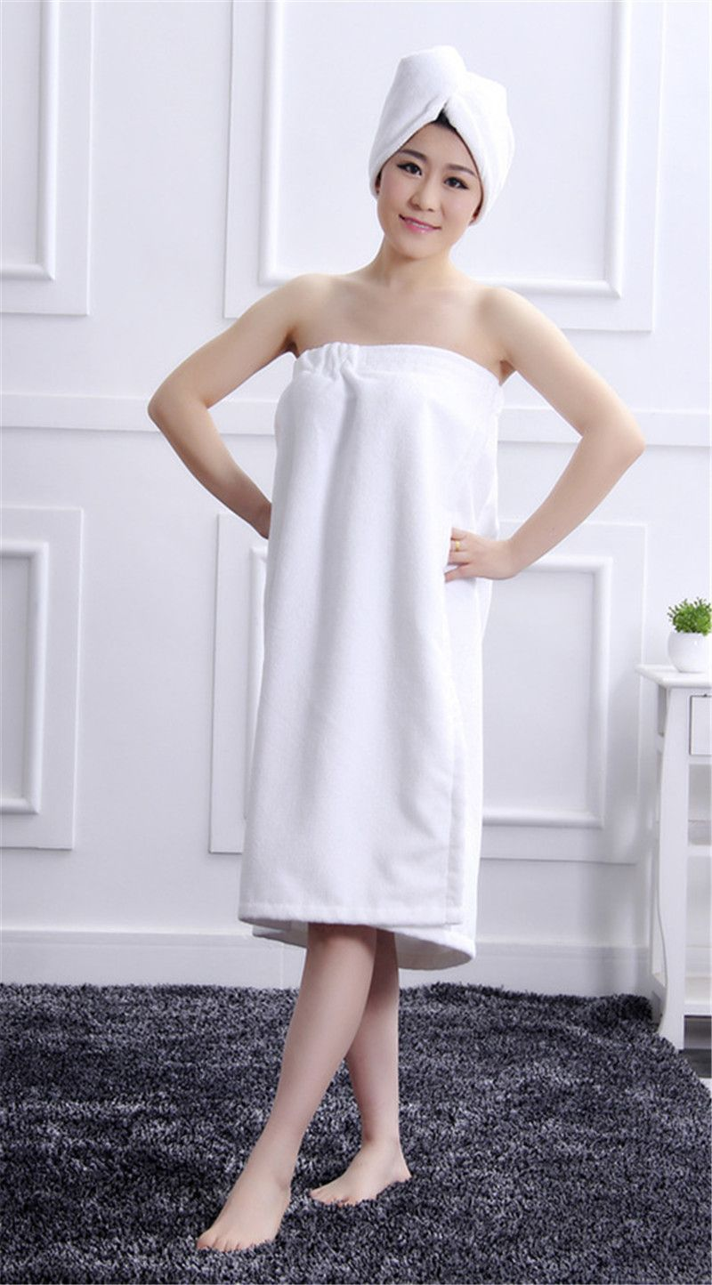 c997d6c5a6 Super Absorbent Women Bath Towel Shower cap combination packages Wearable  Microfiber Fabric Beach Towel Hot Sale