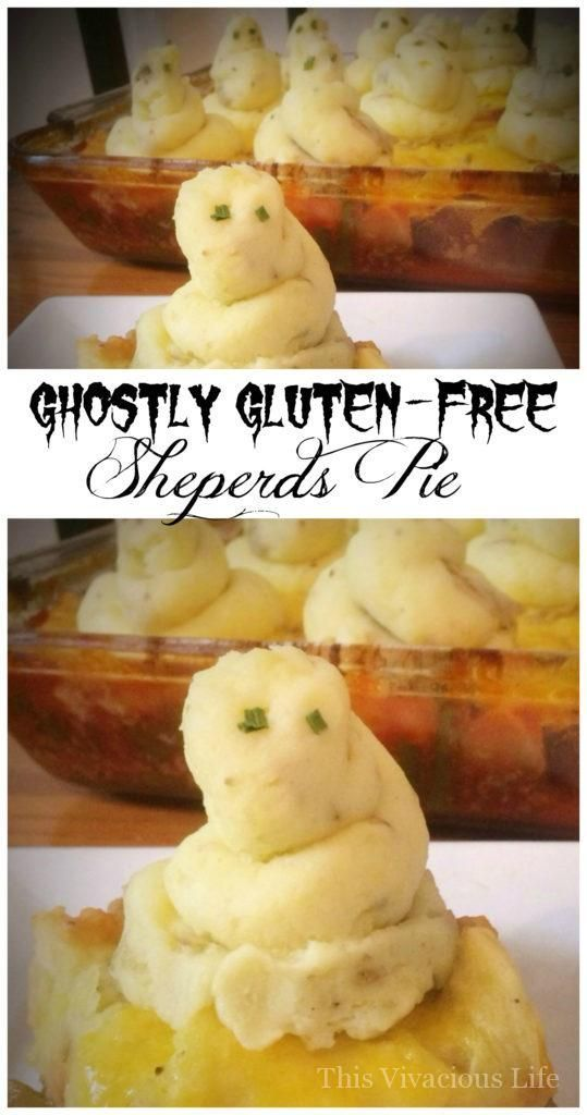 Ghostly Gluten-Free Shepherds Pie is an easy and festive Halloween - fun halloween food ideas