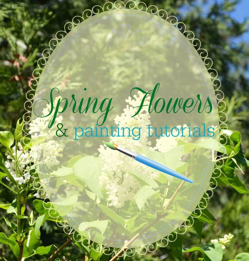 Twenty four easy tutorials for painting flowers. Perfect for beginning painters.
