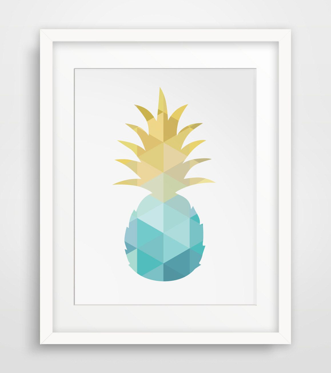 Pineapple Turquoise Pineapple Art Blue And Yellow Summer Art Teal And Gold Pineapple Wall Art Turquoise Pineapple Art Pineapple Wall Art Blue Art Prints