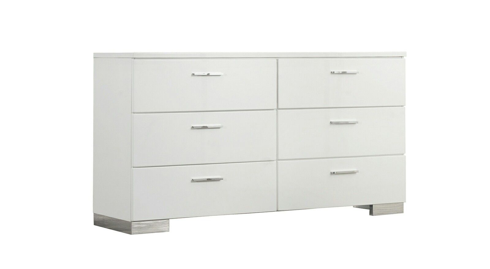 One In Stock Phoebe Glossy Dresser 63 X17 75 X35 25 H Rent 79 Buy 569 Dresser Metal Bar Glossy White