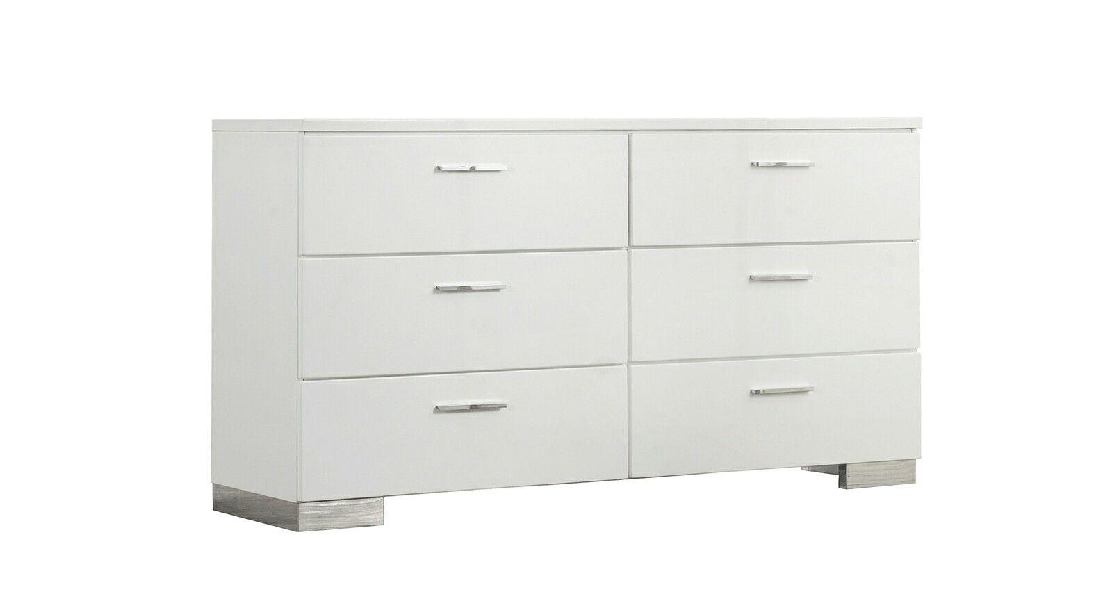One In Stock Phoebe Glossy Dresser 63 X17 75 X35 25 H Rent 79 Buy 569 Dresser Metal Bar Glossy White
