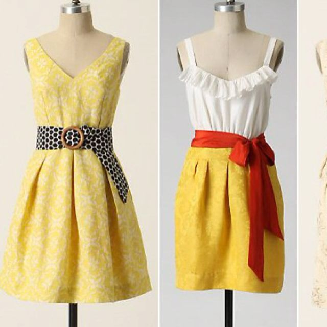 More of my yellow clothes plan.