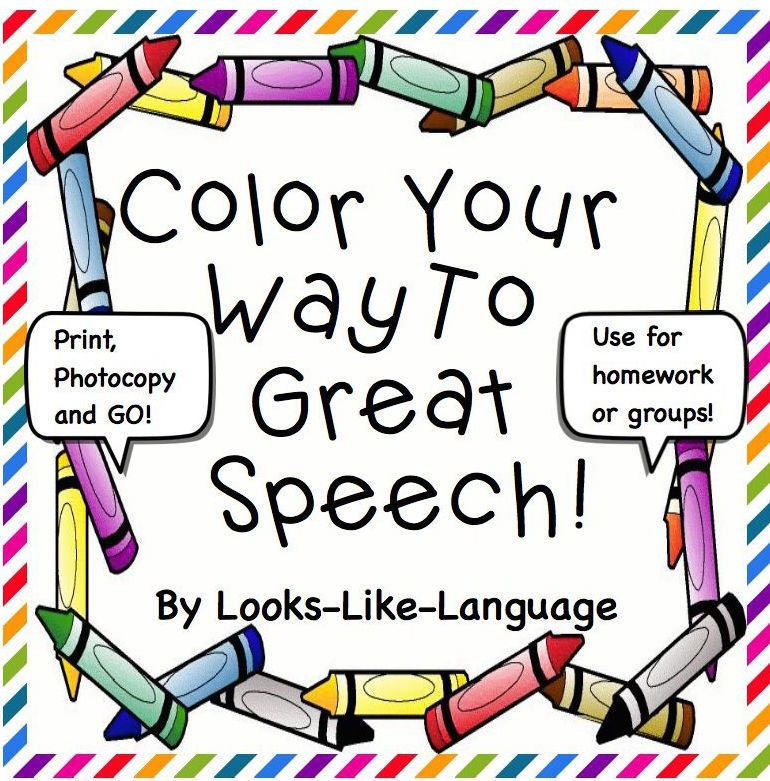 Easy Data Coloring Sheets For Speech/Language Therapy And
